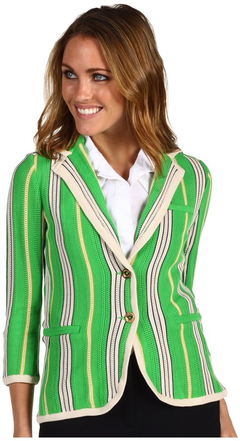 Juicy Couture Summer Stripe Blazer (Spring Green Combo) - Apparel