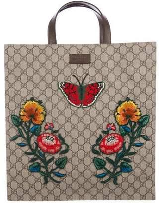 Gucci Soft GG Supreme Embroidered Tote w/ Tags