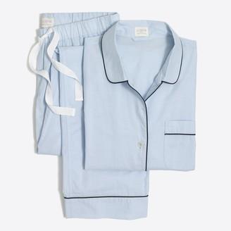 J.Crew Long-sleeve end-on-end pajama set