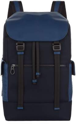 Bottega Veneta Intrecciato Canvas Backpack