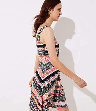 LOFT Petite Riverwalk Flare Dress