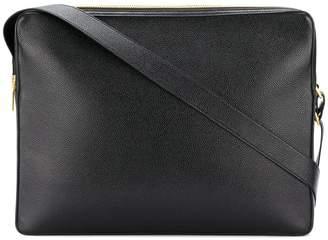 Thom Browne Seamed Panel Pebble Grain Leather Messenger Bag