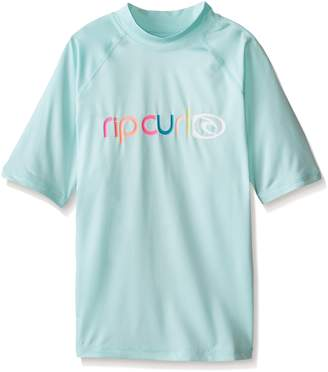 Rip Curl Women's Juniors Miss Sunshine Short Sleeve Rash Guard