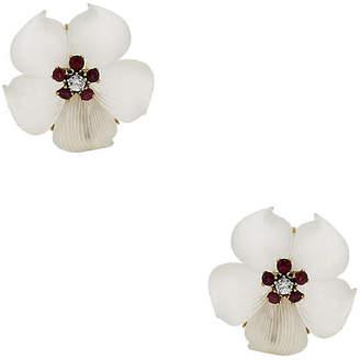 One Kings Lane Vintage Tiffany & Co. Flower Earrings