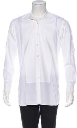 Dries Van Noten Twill Pattern-Accented French Cuff Shirt