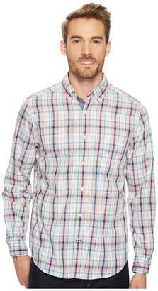 Nautica Long Sleeve Tartan Plaid Shirt Men's Clothing
