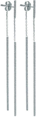 Carolina Bucci Florentine 18k White Gold Sparkly Stick Earrings