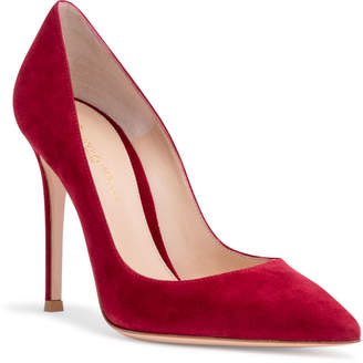 Gianvito Rossi Gianvito 105 Burgundy Suede Pumps