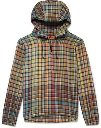 Missoni Checked Cotton Half-Zip Hoodie