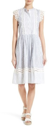 Women's Sea Lace & Stripe Combo Dress $445 thestylecure.com