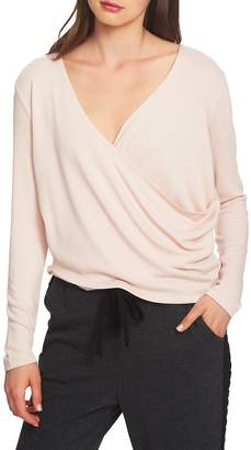 1 STATE 1.STATE Wrap Front Knit Top
