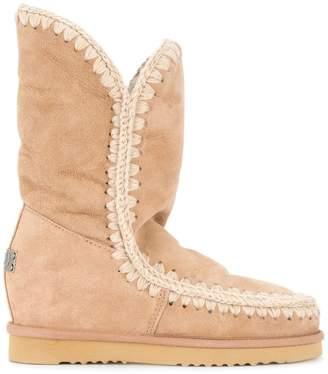 Mou Eskimo shearling wedge boots