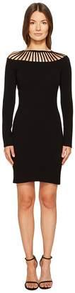Moschino Long Sleeve Cut Out Neck Dress Women's Dress