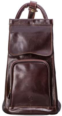 Maxwell Scott Bags Italian Crafted Black Leather Sling Rucksack For Women