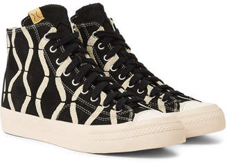 Visvim Skagway Printed Suede High-Top Sneakers - Black
