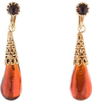 Christian Dior Christian Dior Vintage Resin Drop Earrings