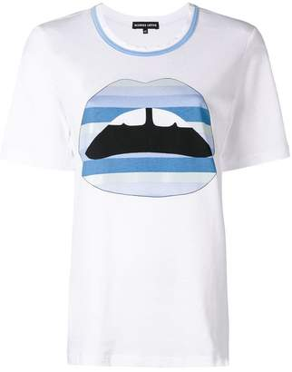 Markus Lupfer Alex gradient lips T-shirt