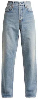 Balenciaga Wide Leg Jeans - Womens - Light Blue