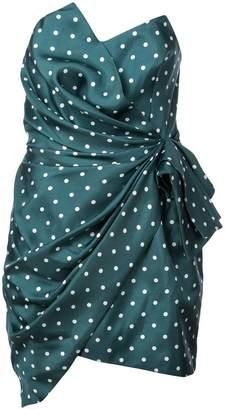 Alexandre Vauthier asymmetric polka dot dress