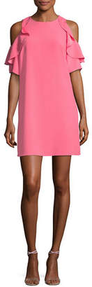 Kate Spade Cold-Shoulder Crepe Dress
