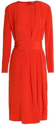 Vanessa Bruno Pleated Silk Crepe De Chine Dress