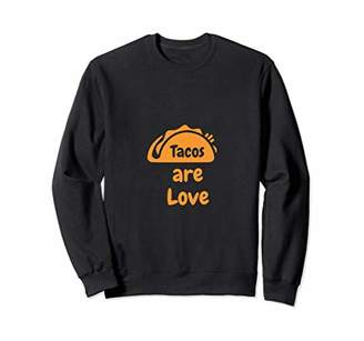 Tacos Are Love Food Lover Cool Statement Graphic Tee