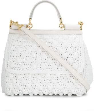 Dolce & Gabbana Crocheted Medium Sicily bag