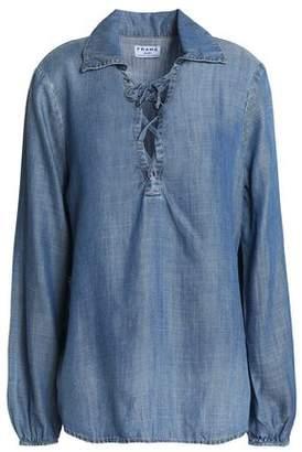 Frame Lace-Up Chambray Shirt