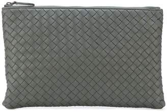 Bottega Veneta light grey INtrecciato nappa medium biletto