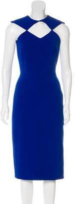 Christian Siriano Sleeveless Midi Dress