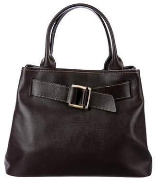 Longchamp Belted Leather Tote