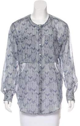 A.L.C. Printed Button-Up Top