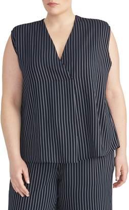 Rachel Roy Collection V-Neck Stripe Popover Top