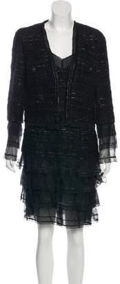 Chanel Tweed Metallic Dress Set