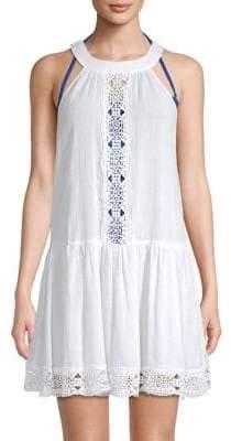LaBlanca Island Fare Cotton Cover-Up Mini Dress