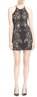 Women's Parker Jaden Open Back Lace Inset Sheath Dress $418 thestylecure.com
