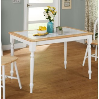 TMS Tara Tile Top Table, White/Natural