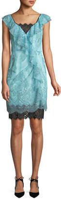 Nanette Lepore Lucious Illusion Lace Mini Dress