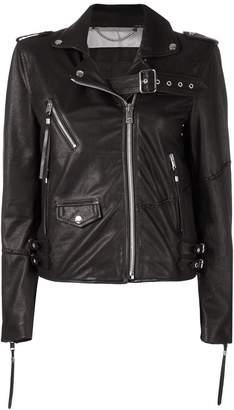 Diesel embellished biker jacket