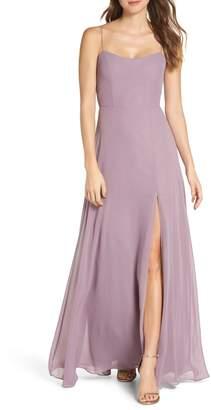e508cb045b601 Jenny Yoo Kiara Bow Back Chiffon Evening Dress