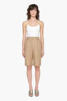 Genuine People Long Tencel Linen Blend Shorts