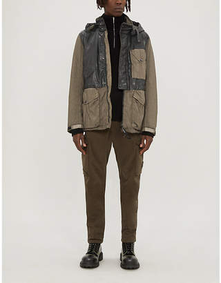 C.P. Company Two-tone patch-pocket shell hooded jacket
