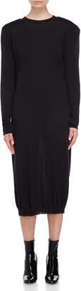 Jil Sander Black Wool Midi Dress