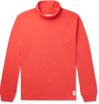 Holiday Boileau Mock-Neck Cotton-Jersey T-Shirt - Men - Red