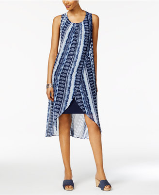 Style & Co Printed Tulip-Hem Dress, Created for Macy's $69.50 thestylecure.com
