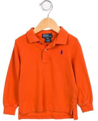 Polo Ralph Lauren Boys' Long Sleeve Logo Top
