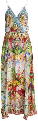 Camilla Miranda's Diary silk wrap dress