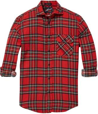 Scotch & Soda Checked Chest Pocket Shirt Relaxed fit