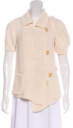 Sonia Rykiel Cable Knit Short Sleeve Cardigan