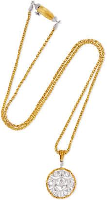 Buccellati Ramage 18-karat Yellow And White Gold Diamond Necklace - one size